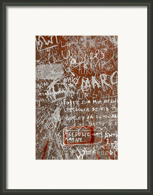 Grunge Background Framed Print By Carlos Caetano
