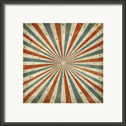 Grunge Ray Retro Design Framed Print By Setsiri Silapasuwanchai