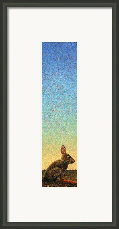 Guard Framed Print By James W Johnson