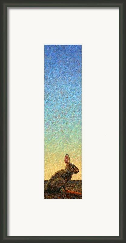 Guard Framed Print By James W Johnson