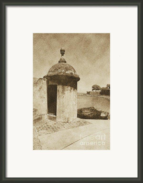 Guard Post Castillo San Felipe Del Morro San Juan Puerto Rico Vintage Framed Print By Shawn Obrien