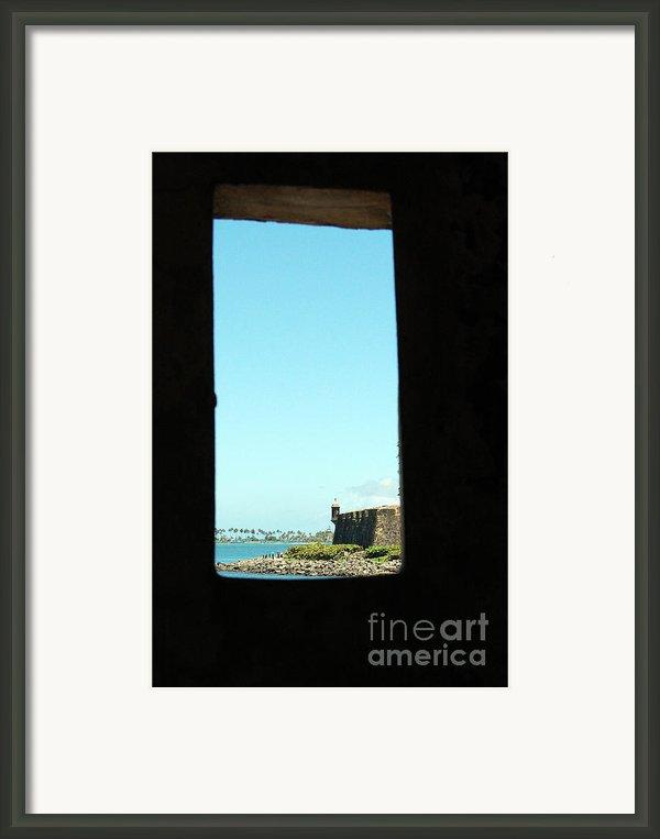 Guard Tower View Castillo San Felipe Del Morro San Juan Puerto Rico Framed Print By Shawn Obrien