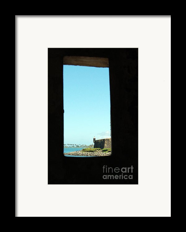 Guard Tower View Castillo San Felipe Del Morro San Juan Puerto Rico Framed Print By Shawn O