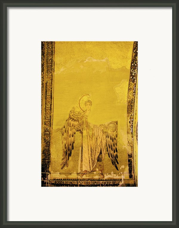 Guardian Angel Byzantine Art Framed Print By Artur Bogacki