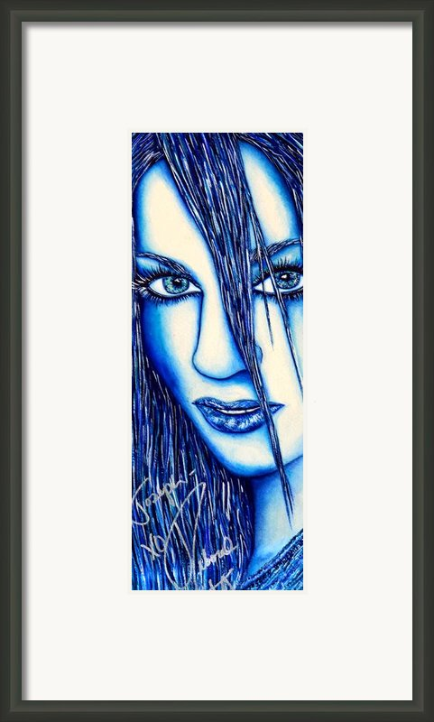 Guess U Like Me In Blue Framed Print By Joseph Lawrence Vasile