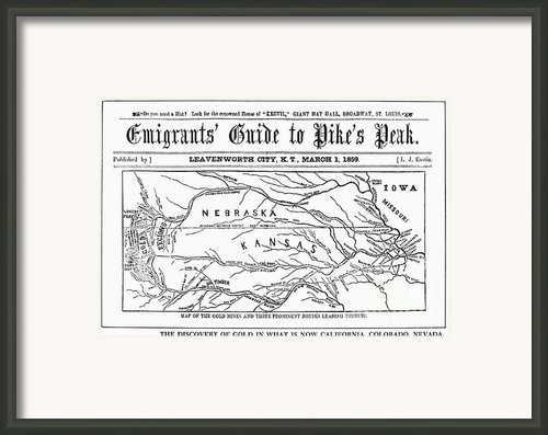 Guide To Pikes Peak, 1859 Framed Print By Granger