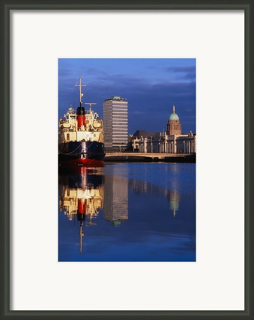 Guinness Boat, Custom House, Liberty Framed Print By The Irish Image Collection