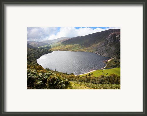 Guinness Lake In Wicklow Mountains  Ireland Framed Print By Semmick Photo