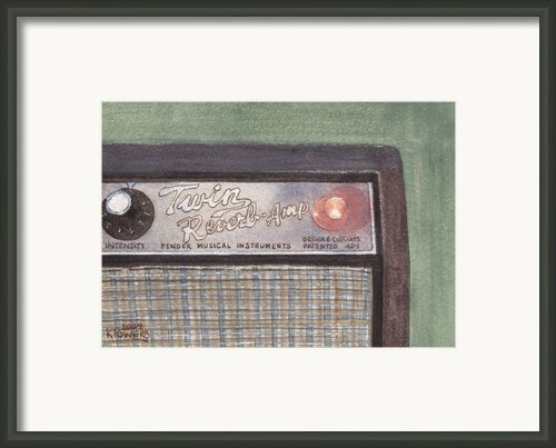 Guitar Amp Framed Print By Ken Powers
