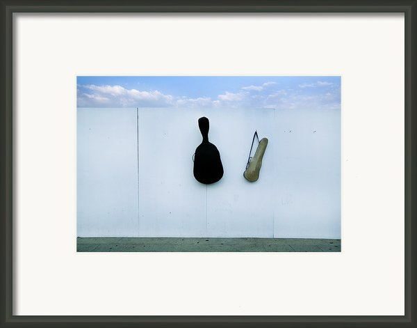 Guitar And Violin Case In Plaza Garibaldi In Df. Framed Print By 4 Eyes Photography