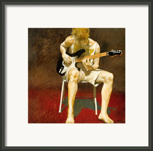 Guitarman... Framed Print By Will Bullas