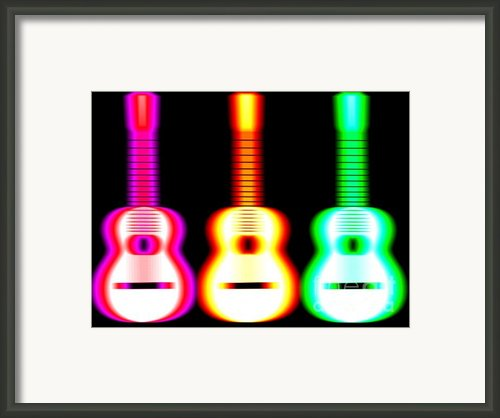 Guitars On Fire Framed Print By Andy Smy