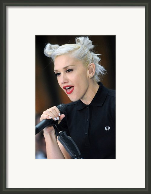 Gwen Stefani On Location For The Nbc Framed Print By Everett