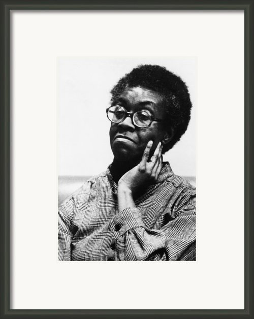 Gwendolyn Brooks 1917-2000, American Framed Print By Everett