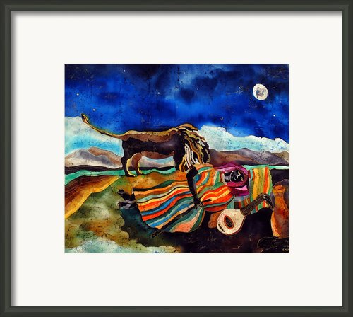 Gypsy Tribute To Henri Rousseau Framed Print By Sandra Kern