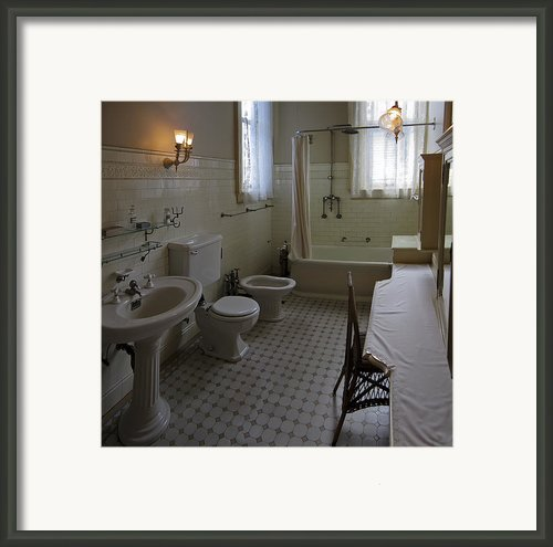 Haas Lilienthal House Victorian Bath - San Francisco Framed Print By Daniel Hagerman