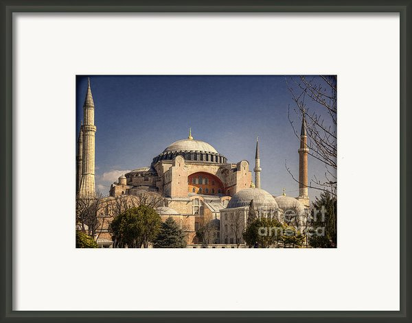 Hagia Sophia Framed Print By Joan Carroll