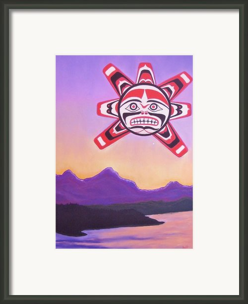 Haida Sunrise Framed Print By Judi Schultze