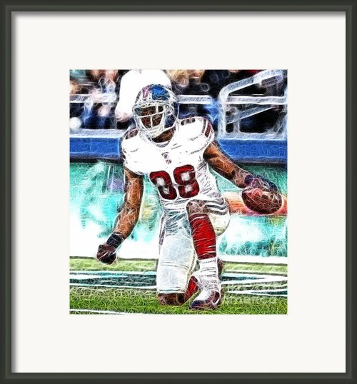 Hakeem Nicks - Sports - Football Framed Print By Paul Ward