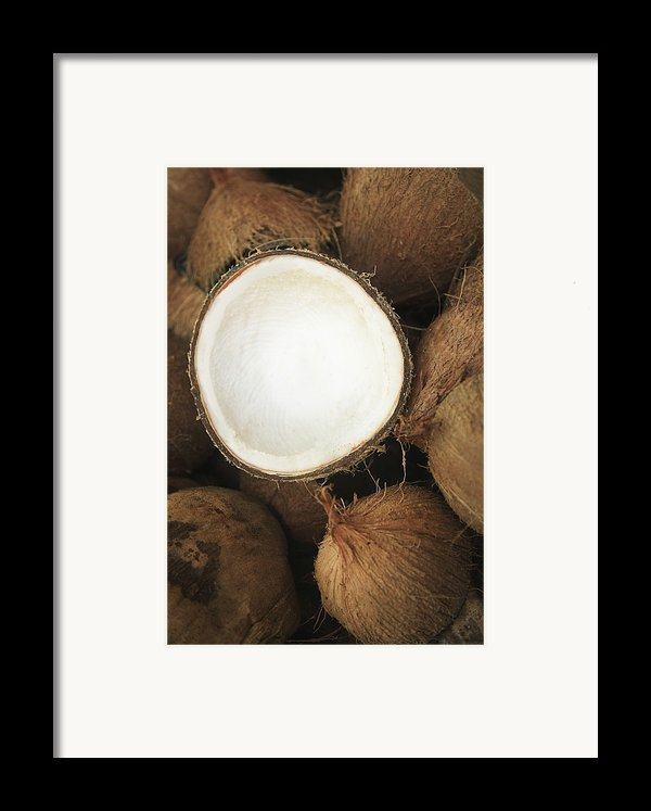 Half Coconut Framed Print By Brandon Tabiolo - Printscapes