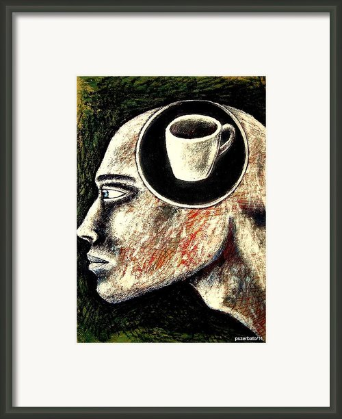 Half Cup Of Stupidity Framed Print By Paulo Zerbato
