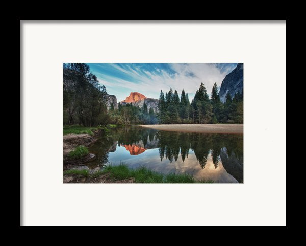 Half Dome And  Merced Framed Print By Mimi Ditchie Photography