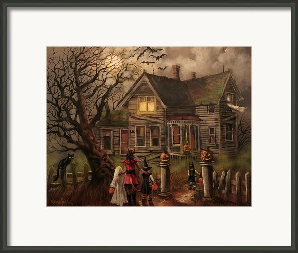 Halloween Dare Framed Print By Tom Shropshire