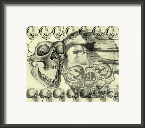 Halloween In Grunge Style Framed Print By Michal Boubin