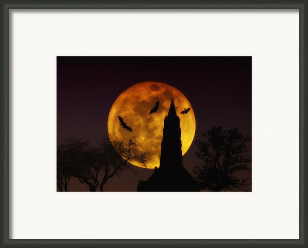 Halloween Moon Framed Print By Bill Cannon