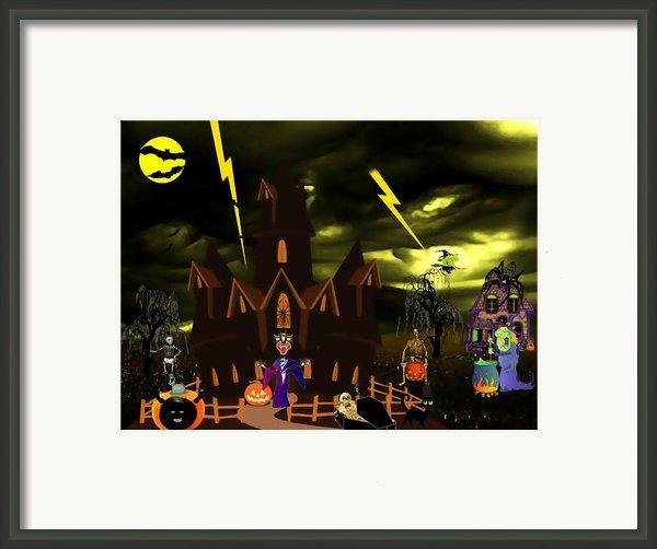 Halloween Night Framed Print By Garry Staranchuk