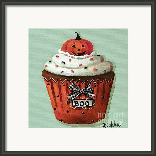 Halloween Pumpkin Cupcake Framed Print By Catherine Holman
