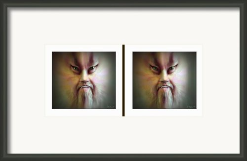 Halloween Self Portrait - Gently Cross Your Eyes And Focus On The Middle Image Framed Print By Brian Wallace