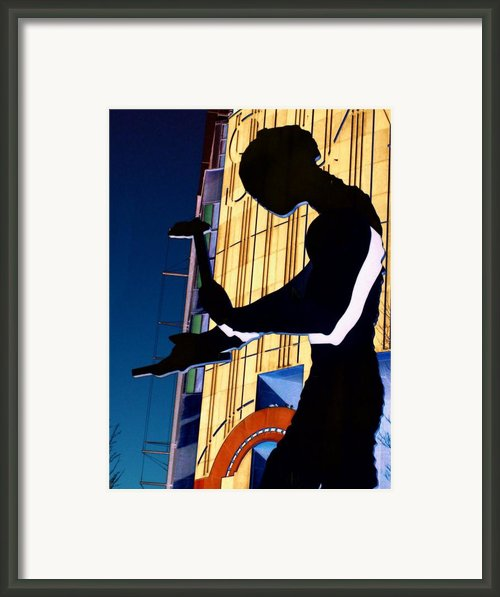 Hammering Man Framed Print By Tim Allen