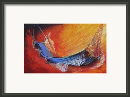 Hammock With Lace Framed Print By Lois Romei Schlowsky