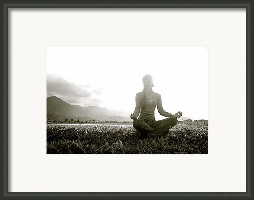 Hanalei Meditation Framed Print By Kicka Witte - Printscapes
