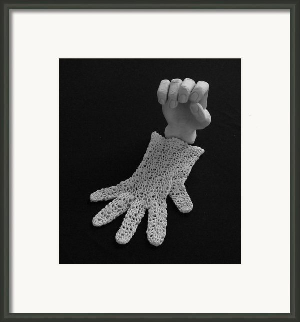 Hand And Glove Framed Print By Barbara St Jean