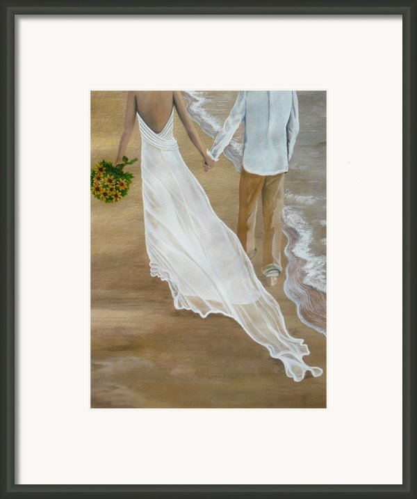 Hand In Hand Framed Print By Kris Crollard