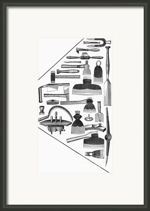 Hand Tools, 1876 Framed Print By Granger