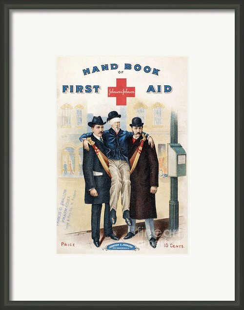Handbook: First Aid Framed Print By Granger