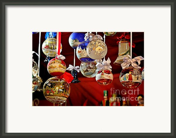Handcrafted Mouth Blown Christmas Glass Balls Framed Print By Christine Till