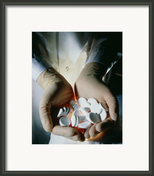 Handful Of Manufactured Effervescent Tabl Framed Print By Geoff Tompkinson