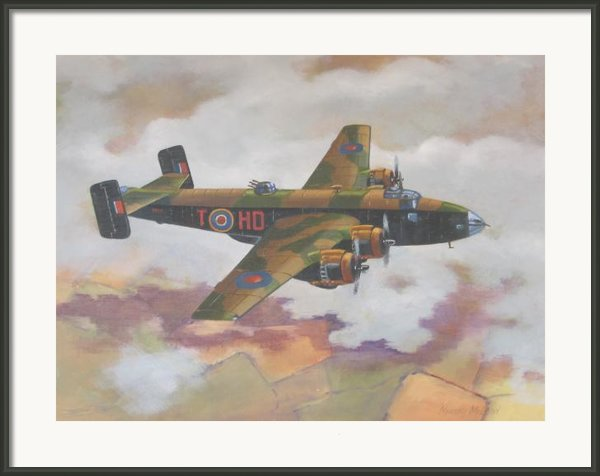 Handley Page Halifax Framed Print By Murray Mcleod