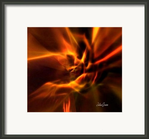 Hands Of Love Framed Print By Julie  Grace