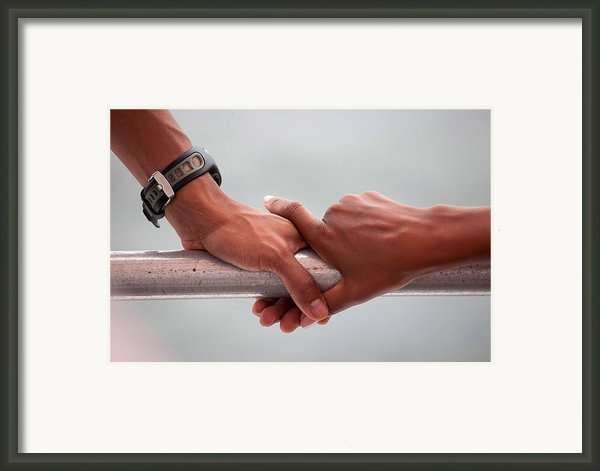 Hands Of President Obama And Michelle Framed Print By Everett
