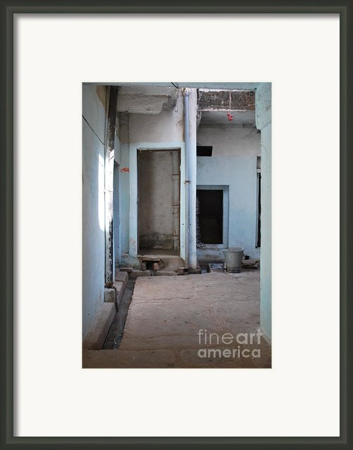 Hang Dog Framed Print By Jen Bodendorfer