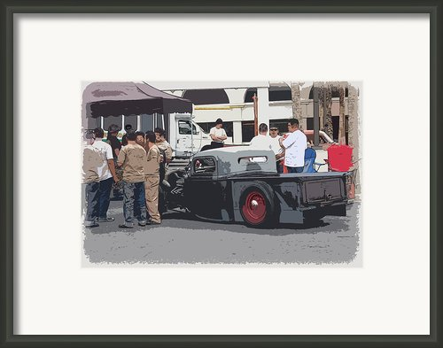 Hanging At The Car Show Framed Print By Steve Mckinzie