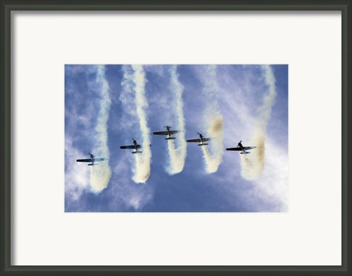 Hanging On The Sky  Framed Print By Angel  Tarantella