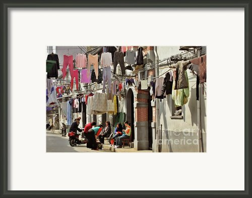 Hanging Out In The Streets Of Shanghai Framed Print By Christine Till