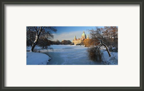 Hanover In Winter Framed Print By Marc Huebner