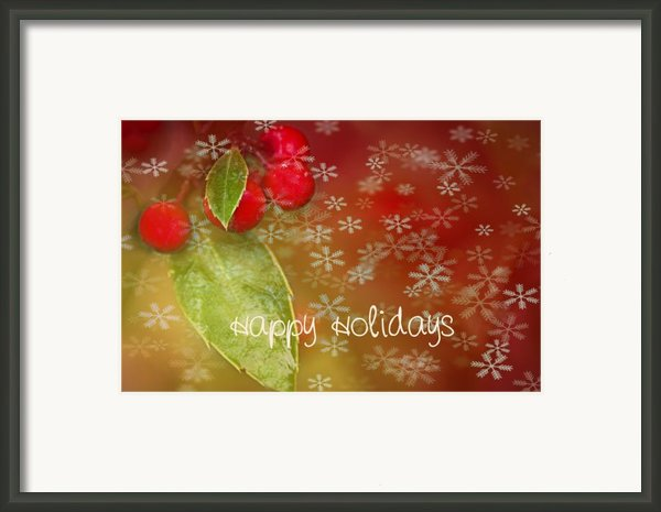 Happy Holidays Framed Print By Rebecca Cozart